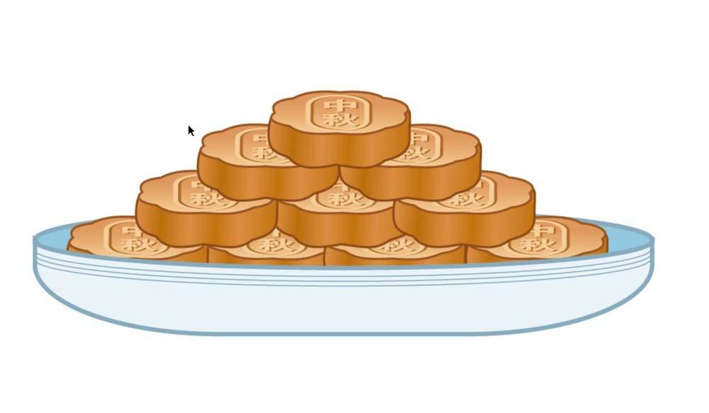 i怎么设计一盘月饼 ai月饼的画法 Flash设计绘制具有卡通风格的石头